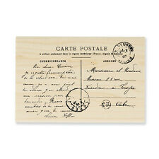 STAMPENDOUS RUBBER STAMPS CARTE POSTALE NEW wood STAMP
