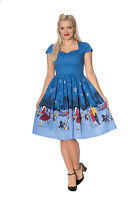 Vintage Retro Rockabilly 50's Paris in winter Fit And Flare Dress Banned Apparel