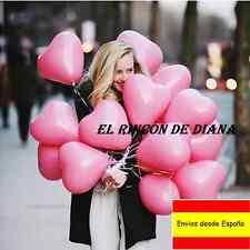 Globos romanticos 5ud Corazon Rosado San valentin Cumpleaños Boda Aniversario