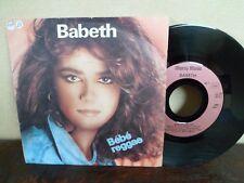 """7"""" RARE - BABETH - Bébé reggae - EX/VG+ - MARCY MUSIC - 49.867 - FRANCE"""