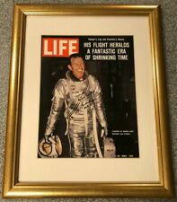 Gordon Cooper SIGNED Life Magazine Frame NASA Mercury Gemini Faith 7 LE 4/10 COA