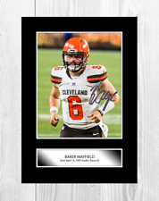 Baker Mayfield (2) NFL Cleveland Browns signed poster. Choice of frame.