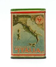 Rare 1920's Trinciato Italia Scarce Vertical Pocket Tobacco Tin