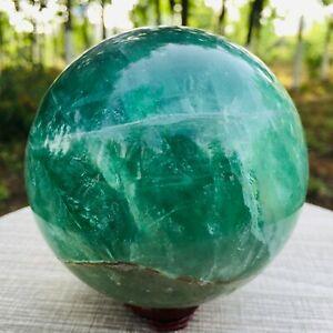 1131G Natural Green Fluorite Ball Quartz Crystal Healing Sphere Reiki Stonec