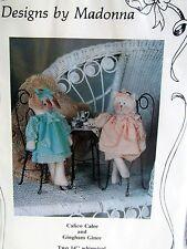 "Craft Pattern CAT cloth doll Designs by Madonna 14"" kitten dog puppy"