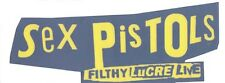 Sex Pistols Filthy Lucre Live RARE promo window cling