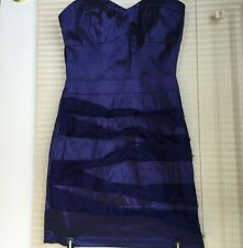 Hot Gal Dress M Polyester Purple Above Knee Mini Empire Waist Juniors Strapless