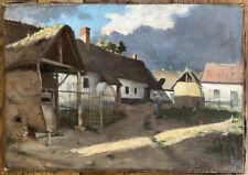 Tableau Impressionnisme Paysage Ferme Campagne Huile signée A. Decamps 1862-1908