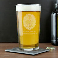 Personalised BEST IN THE WORLD Pint Beer Glass - Birthday Gift for Him DAD SON