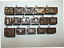 "16 ""BUTTERFLIES, BEES & INSECTS"" Printing Blocks."