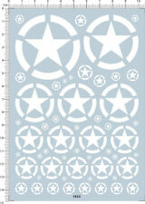 Detail Up All Scale U.S.A US ARMY Military White Star Markings Model Kit Decal