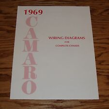 1969 Chevrolet Camaro Wiring Diagram Manual for Complete Chassis 69 Chevy
