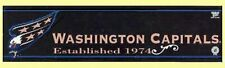 "12"" x 3"" Nhl® Washington Capitals Bumper Sticker - Team Booster"