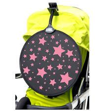 Nuevo Empaquetado My Buggy Buddy Rosa Estrellas Clip Parasol para cochecito y