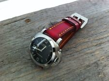 Panerai soft Cheergiant red leather watch strap band Cheergiant hand made straps