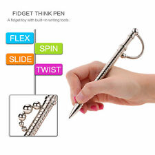 Fidget Toys THINK INK PEN Magnetic Metal Roller Ball Pen Stress Autism Gifts UK