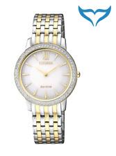 Citizen Elegant Damen Armbanduhr EX1484-81A Eco-Drive Edelstahl Saphir 5 bar NEU