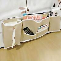 Bedside Home Pocket Bed Organizer Hanging Bag Holder Book Magazine Storage UKWG