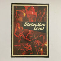 STATUS QUO - LIVE! Trentham Gardens Mar 2 1975 Tour Programme 46 Years Old!!