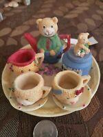 10 Pc Vintage 1994 Ranger International Childrens Minature Tea Set
