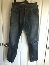 Blue distressed ripped jeans - size 32S