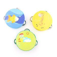 Wooden Hand Drum Musical Tambourine Beat Instrument Baby Educational Toy H&P