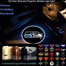 2x Wireless Car Door Seattle Seahawks Logo Projector Ghost Shadow CREE LED Light