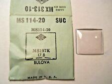 MS114-20 GS MX313-10 Watch Crystal 19.7 x 17.8 FITS BULOVA DEWEY DOUGLAS CORRIGA