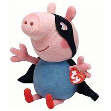 Ty Beanie Peppa Pig - SuperHero George- Ty Beanie Buddy Large Plush Toy