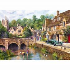GIBSONS CASTLE COMBE WILTSHIRE 1000 PIECE JIGSAW PUZZLE TERRY HARRISON G6070 NEW