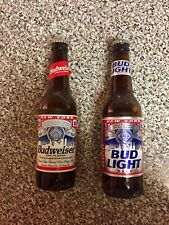 (2) Rare Vintage Budweiser Bud Light Bottles New York City World Trade Center