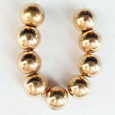 9Pcs/set 8mm Gold Hematite Ball Pendant Bead D92597