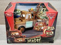 Disney Pixar Cars 2 Transforming Mater - Pop-Out Guns & Jet Engine, Lights Up!