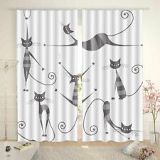 Cat Primary Star Cat 3D Curtain Blockout Photo Printing Curtains Drape Fabric