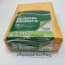 Duck Brand Kraft Bubble Mailers06x 9self Sealing12 Packfree Shipping