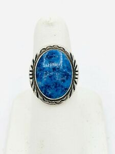 Beautiful Vintage 925 S.silver natural sea blue color Turquoise Gemstone Ring.