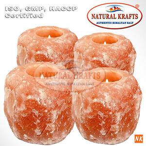 Himalayan Salt Candle Tealight Holder 4 Pack Candle Set of Aromatherapy crystal