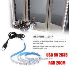 USB 5V 2835 12SMD 20CM RGB LED Strip Light Bar TV Back Lighting Kit Decoration