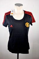 Manchester United Damen T-Shirt Gr. S M L XL schwarz Devils Adidas ManU Women
