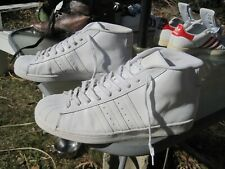 adidas Superstar Mid White Leather Basketball Shoes / Us Men 14 / Pre-owned