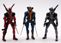 4'' Marvel Universe Deadpool Gift Loose Action Figure Red Blue Grey X-Men Toy
