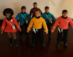 Star Trek 1974 Mego Six Action Figure Set Kirk Spock McCoy Scotty Uhuru Klingon