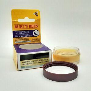 Burt's Bees Overnight Intensive Lip Treatment 7.08g - NEW - Damaged Box #3354