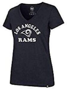 Los Angeles Rams Women's Arch Logo V-Neck T-Shirt - Navy