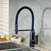 Pull Down & Swivel Spout Mixer Kitchen Vanity Sink Taps Single Handle Faucet