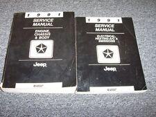 1991 Jeep Grand Wagoneer Comanche Cherokee Wrangler Service Repair Manual Set