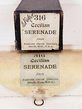 """316 Cecilian Serenade Jensen 1900 Farrand organ Co. Piano Roll 14"""""""