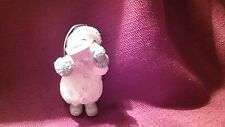 SNOW BUDDIES ORNAMENT  - Snowman with Caboose Train Ornament