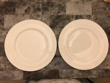 NEW 2 Wedgwood Intaglio WHITE Dinner Plates 10 3/4 Inch Set of 2