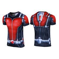 Men's Superhero T-Shirt Captain America Superman Batman Deadpool Spider Iron Man